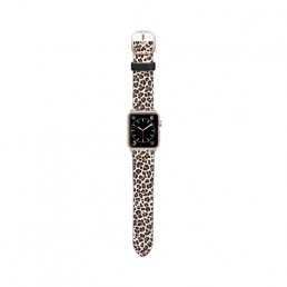 Apple Watch band with leopard design