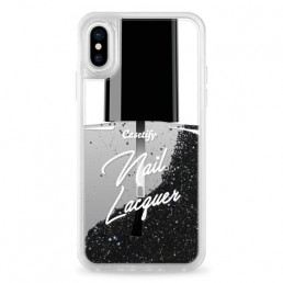 Apple iPhone case with nail polish design