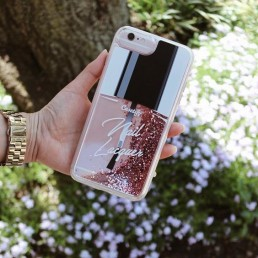 Customer photo of Apple iPhone case with nail polish design