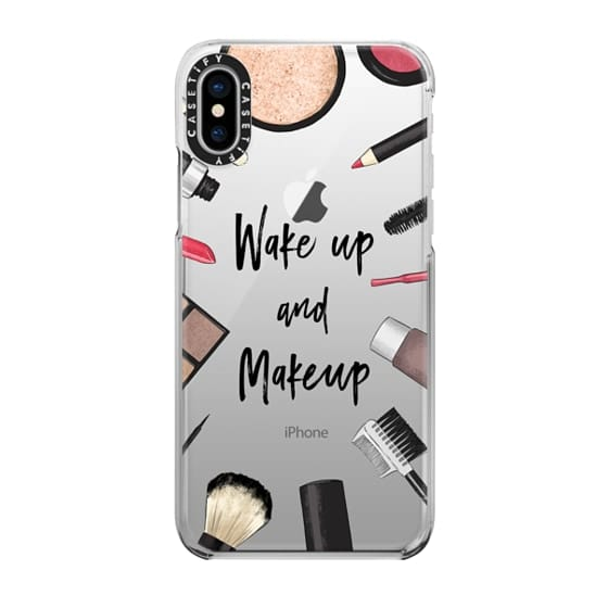 Apple iPhone case with makeup design