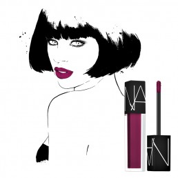 Illustration of a woman wearing NARS lipstick