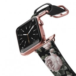 Apple Watch band with vintage floral design