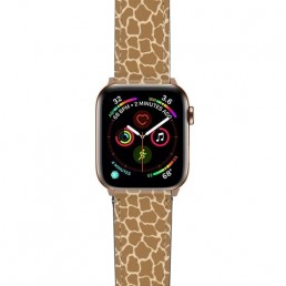 Apple Watch band with animal print design