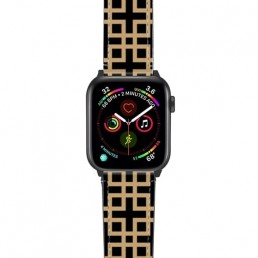 Apple Watch band with geometric design