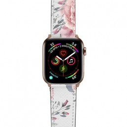 Apple Watch band with floral design